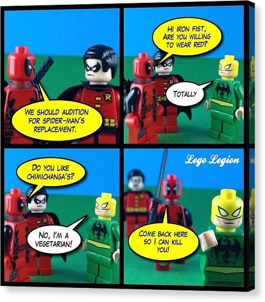 The Legion Canvas Print - Team Red's New Team Member by Lego Legion
