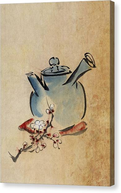 Tea Canvas Print - Teapot by Aged Pixel