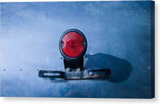 Stoplights Canvas Print - Teardrop Taillight by YoPedro