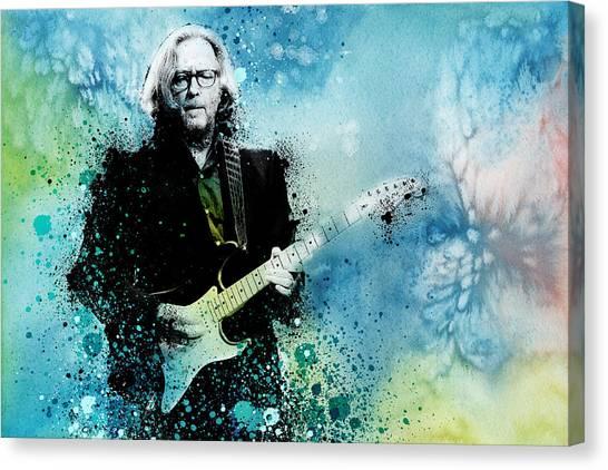 Eric Clapton Canvas Print - Tears In Heaven 3 by Bekim Art
