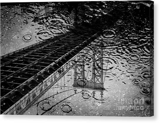 Manhattan Canvas Print - Tears Of New York by Az Jackson