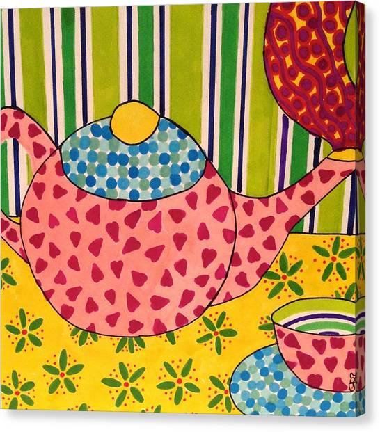 Tea Time Canvas Print - Teatime by Grace Palmieri