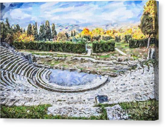 Teatro Romano Fiesole Tuscany Canvas Print