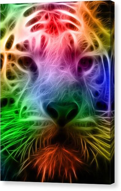 Clemson University Canvas Print - Techicolor Tiger by Ricky Barnard