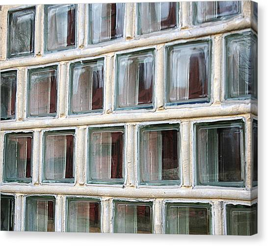 Canvas Print featuring the photograph Technocratic Windows by William Selander