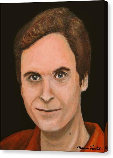 Ted Bundy Canvas Print - Ted Bundy by Norman Twisted