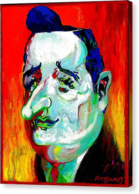 Ted Cruz Canvas Print - ted cruz on LaSatirica.com  by cjFitzjames