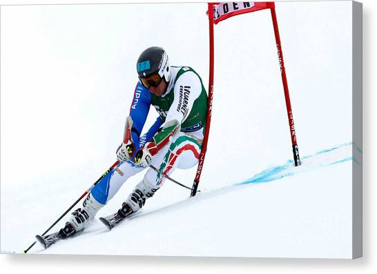 Freeriding Canvas Print - Ted Ligety Skiing  by Lanjee Chee