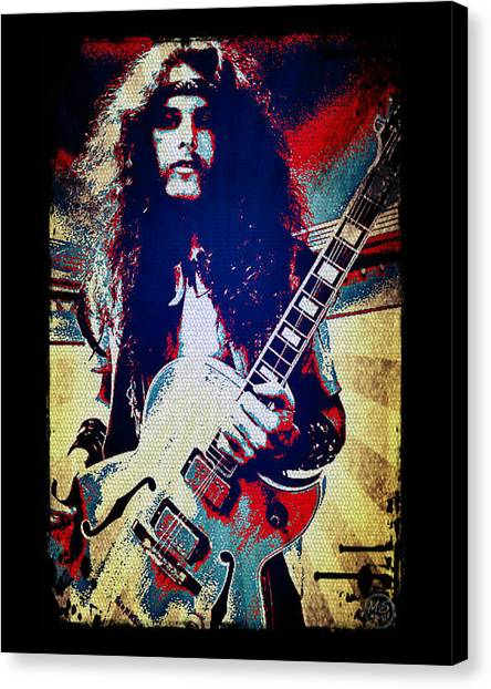 Ted Nugent - Red White And Blue Canvas Print