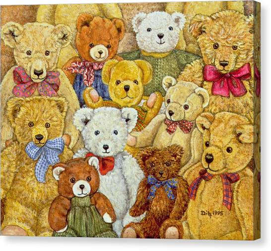 Teddy Bears Canvas Print - Ted Patch by Ditz