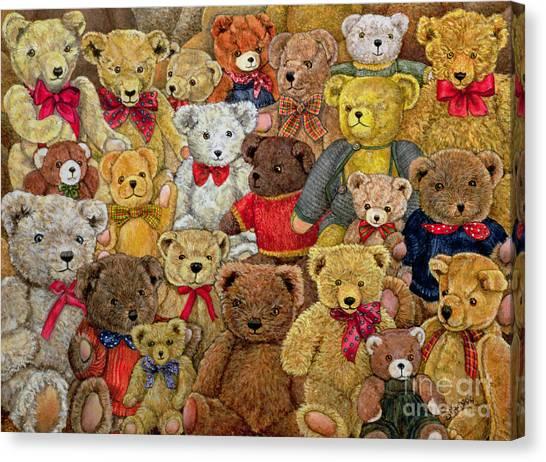 Teddy Bears Canvas Print - Ted Spread by Ditz