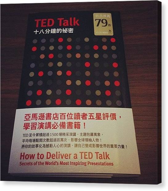 Presentations Canvas Print - Ted Talk 十八分鐘的秘密 by William Chung