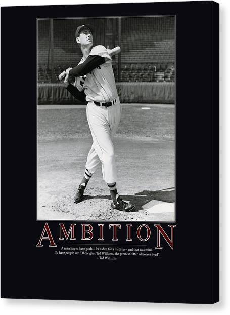 Ted Williams Ambition Canvas Print by Retro Images Archive