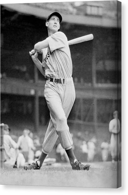 Mlb Canvas Print - Ted Williams Swing by Gianfranco Weiss