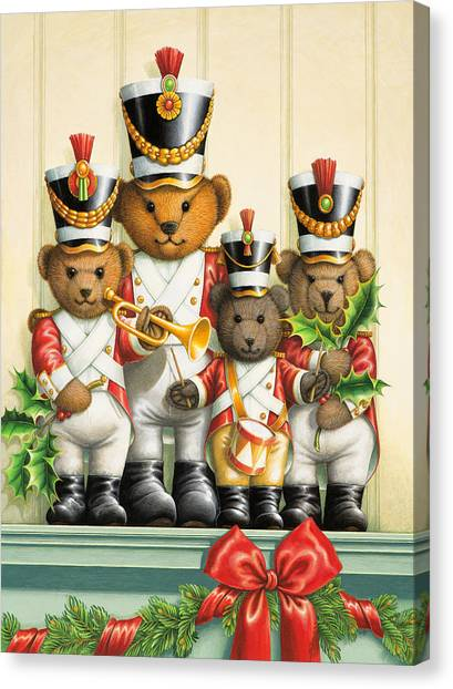 Teddy Bear Band Canvas Print