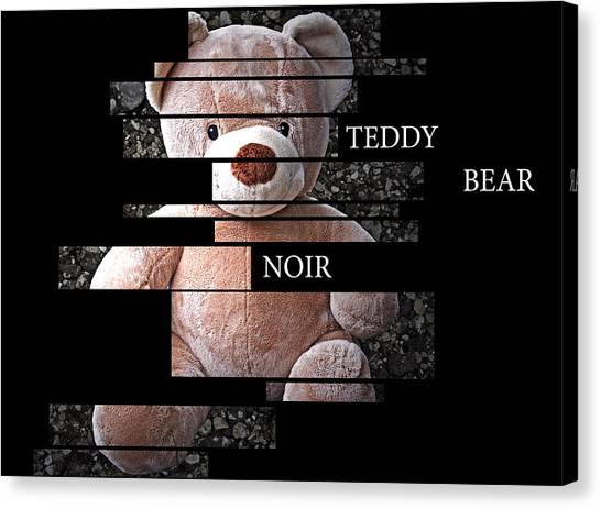 Teddy Bear Noir Canvas Print by William Patrick