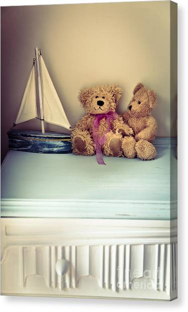 Drawers Canvas Print - Teddy Bears by Jan Bickerton