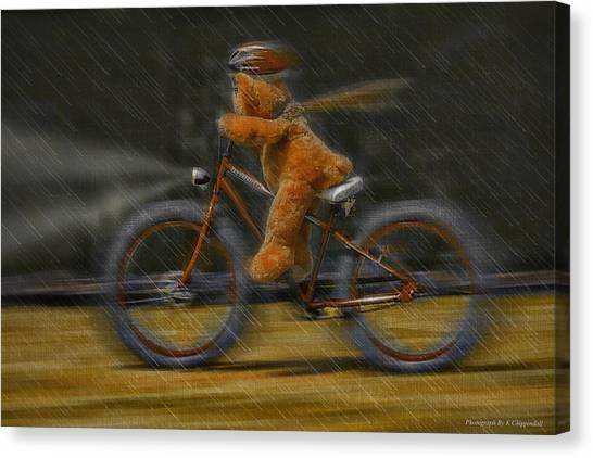 Teddy Going Hard 01 Canvas Print