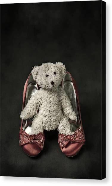 Teddybear Canvas Print - Teddy In Pumps by Joana Kruse