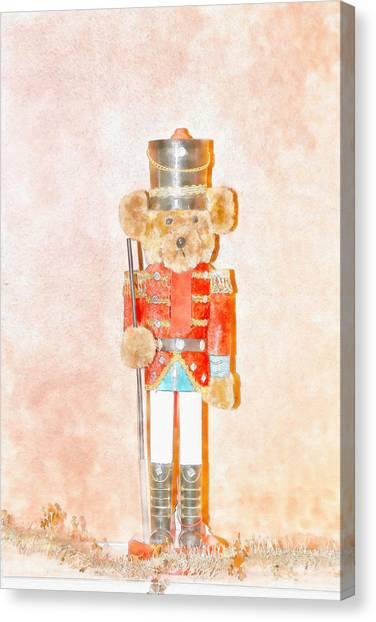 Teddy Nutcracker Canvas Print