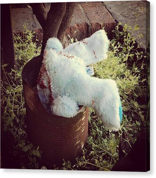 Teddy Bears Canvas Print - Teddy On Timeout by Michele Beere