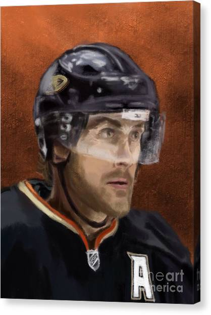 Anaheim Ducks Canvas Print - Teemu by Jeremy Nash