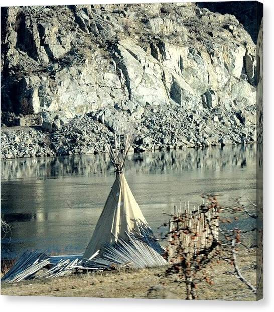 Washington Canvas Print - Teepee By The River by Kelli Stowe