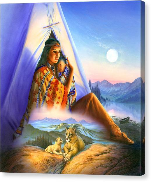 Teepee Canvas Print - Teepee Of Dreams by Andrew Farley