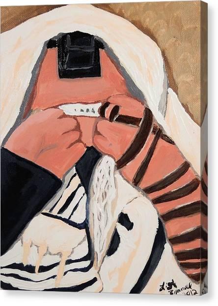 Tefillah- In Prayer Canvas Print