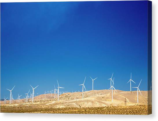 Solar Farms Canvas Print - Tehachapi Wind Resource Area by Jim West/science Photo Library