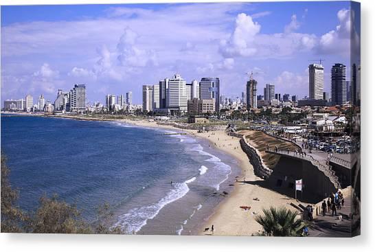 Tel Aviv Beach Canvas Print