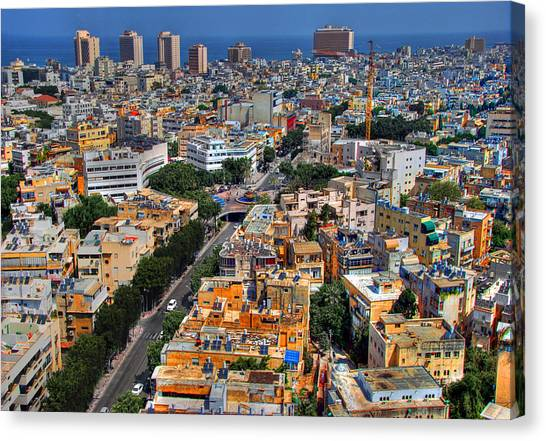 Tel Aviv Eagle Eye View Canvas Print