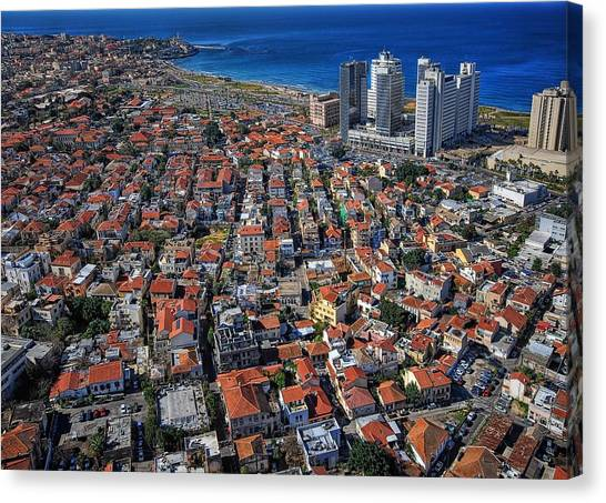 Tel Aviv - The First Neighboorhoods Canvas Print