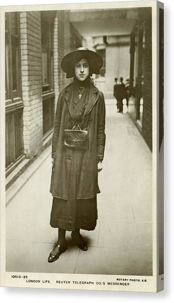Womens Rights Canvas Print - Telegraph Messenger Girl by Schwimmer-lloyd Collection/new York Public Library