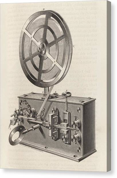 Printers Canvas Print - Telegraph Printer by King's College London