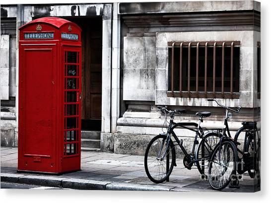 Telephone In London Canvas Print by John Rizzuto