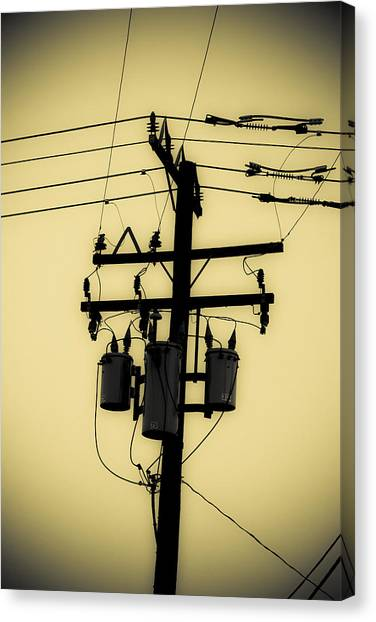 James Franco Canvas Print - Telephone Pole 3 by Scott Campbell