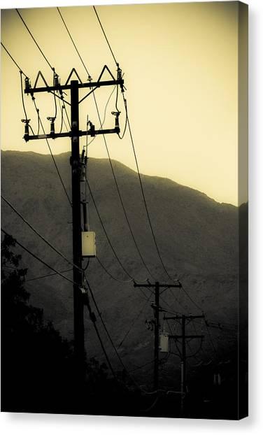 James Franco Canvas Print - Telephone Pole 5 by Scott Campbell