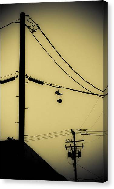 James Franco Canvas Print - Telephone Pole And Sneakers 3 by Scott Campbell