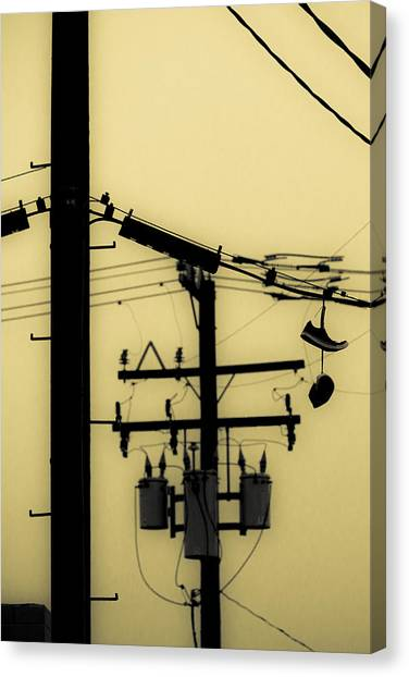 James Franco Canvas Print - Telephone Pole And Sneakers 5 by Scott Campbell
