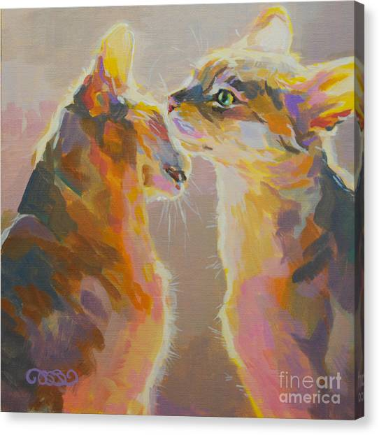 Smokey Canvas Print - Telling Secrets by Kimberly Santini