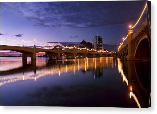 Tempe Town Lake Blues Canvas Print