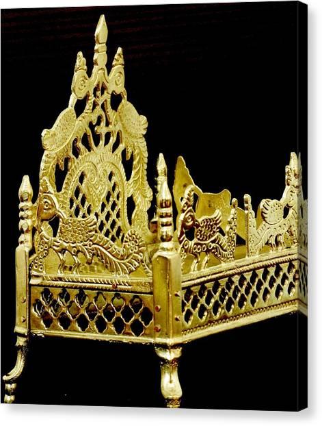 Temple Art - Brass Handicraft Canvas Print