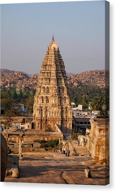 Temple At Hampi Canvas Print