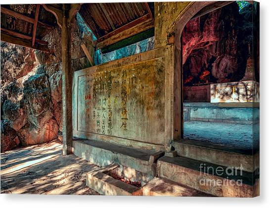 Temple Cave Canvas Print