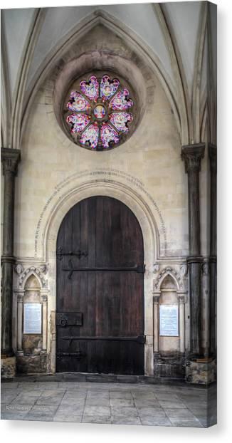 Temple Church Doorway Canvas Print