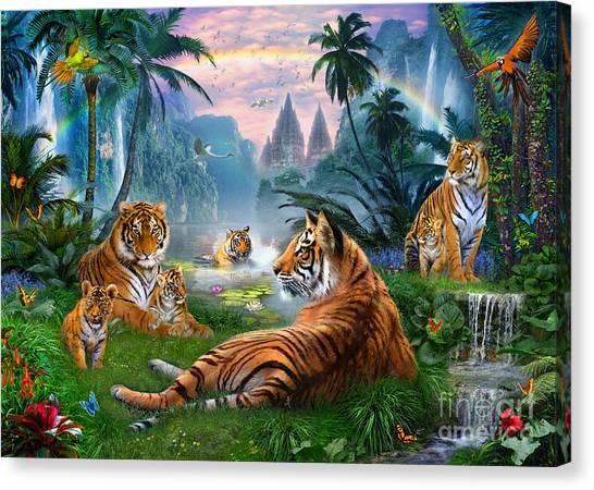 Patrick Canvas Print - Temple Lake Tigers by Jan Patrik Krasny