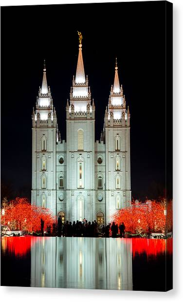 Temple Lights Canvas Print