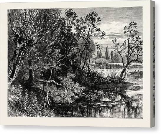 Marlow Canvas Print - Temple Lock, Marlow, Uk, Great Britain, United Kingdom by English School
