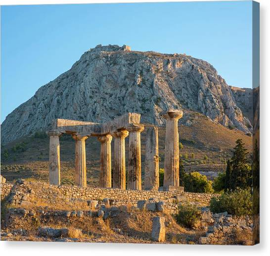 Hellenistic Art Canvas Print - Temple Of Apollo by David Parker/science Photo Library